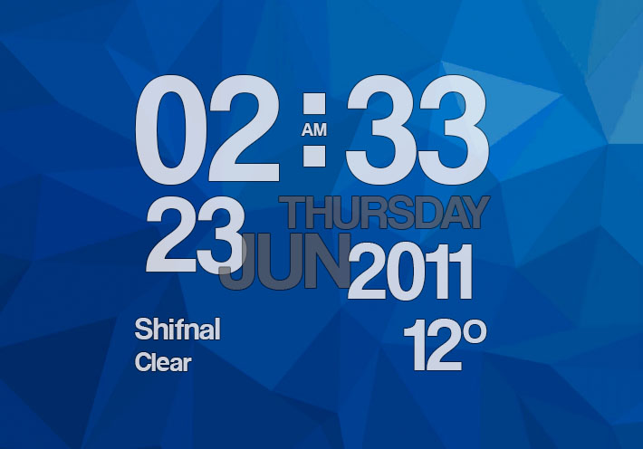 Clock live wallpaper showing time, date and weather condition for Android devices